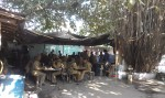 If the mobs aren't storming the Bastille, take a chai break. Riot cops at Jantar Mantar.