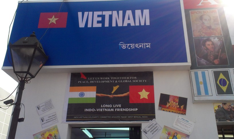 The Vietnam stall, bringing back memories of 'Amar Naam, Tomar Naam, Vietnam'.