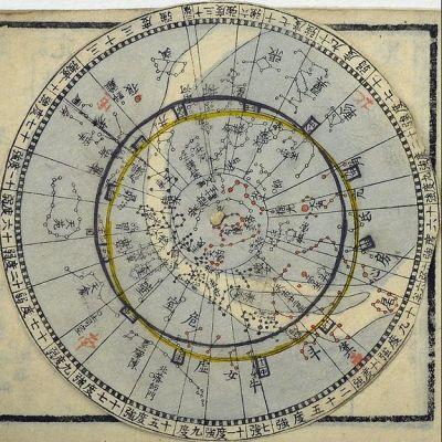 Star map, Japan; by Nagakubo Sekisui
