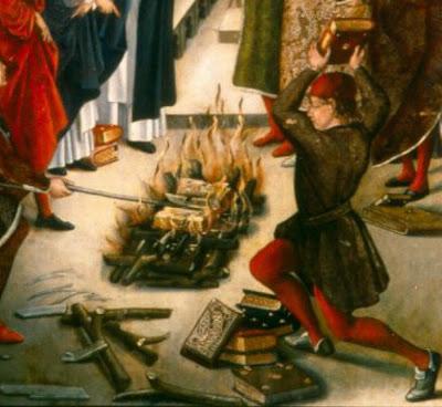 Book Burning Medieval Europe