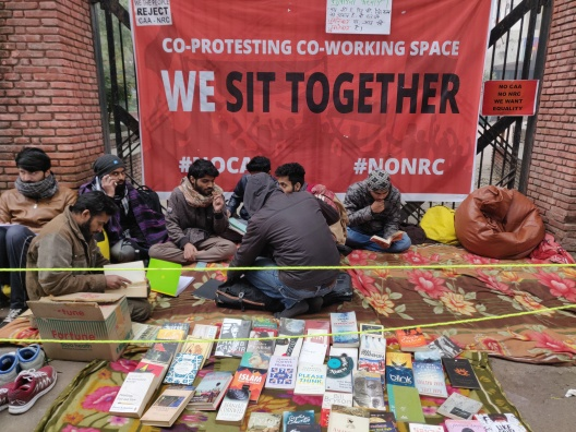 Jamia's pavement library, reading for revolution