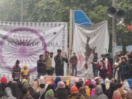 Street plays at the Jamia, and the Constitution as backdrop