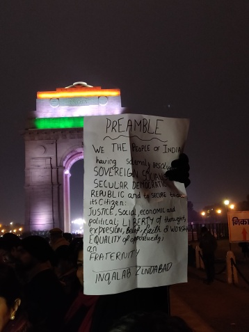 The Preamble, at India gate